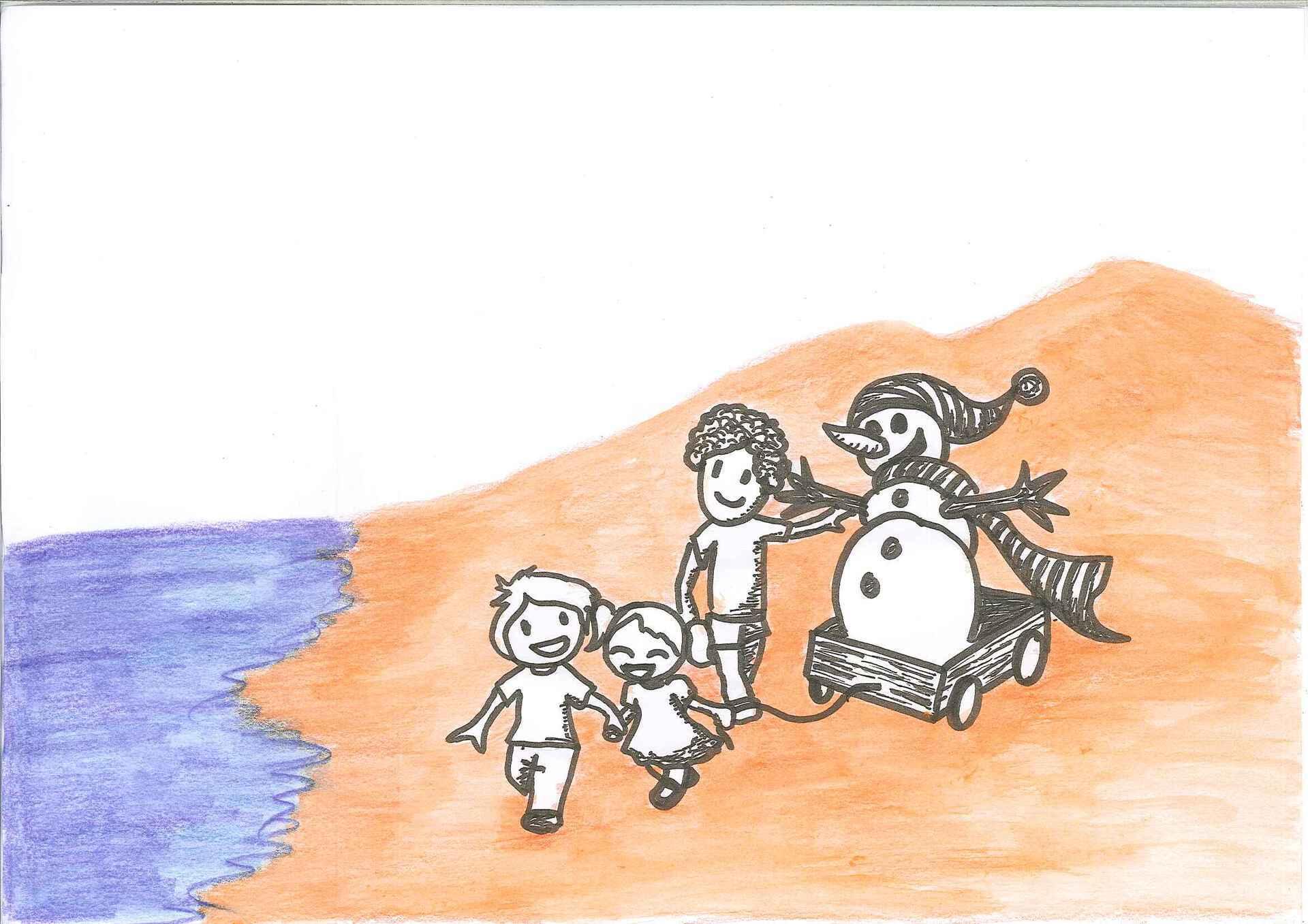 El ninot de neu que volia conèixer el mar