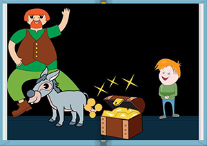 El gegant, el nan i el burro de les monedes d'or